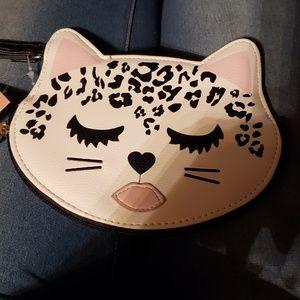 Betsey Johnson cat coin purse